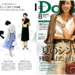 Launer London handbag is introduced in Domani magazine.