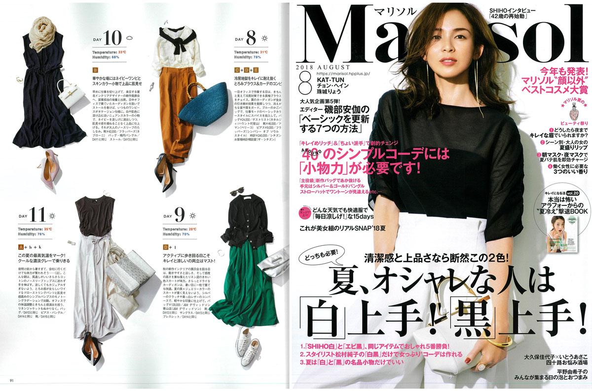Launer London handbag is introduced in Marisol magazine.