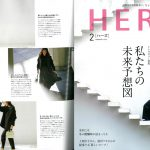 Launer London handbag is introduced in HERS magazine.