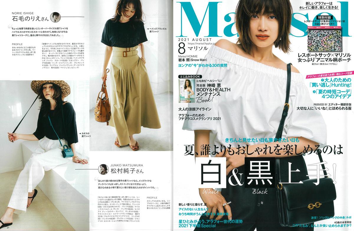 Launer London handbag is introduced in 『Marisol』 magazine.